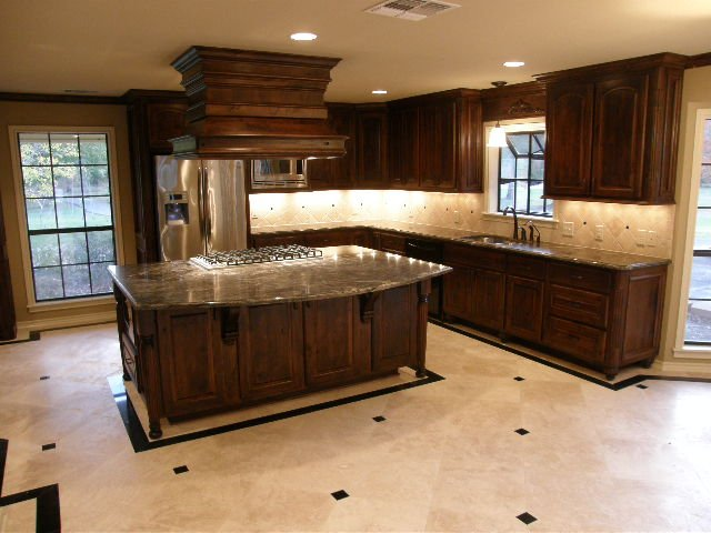 Liebrum construction and mike liebrum realty nacogdoches tx for Black stained cabinets